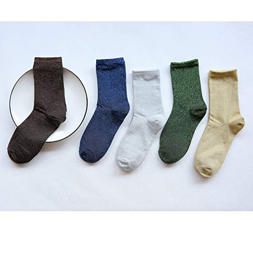 Amazon.com: DeemoShop 4pair/lot Short Ankle Socks for Woman Ladies Girls Cotton Socks Solid Color Glitter Socks Casual Style Calcetines Mujer: Kitchen & ...