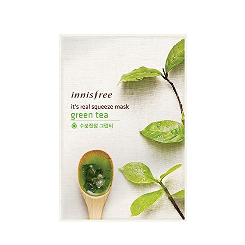 Innisfree It's Real Squeeze Mask Green Tea 0.68 Oz/20ml, X 10pcs