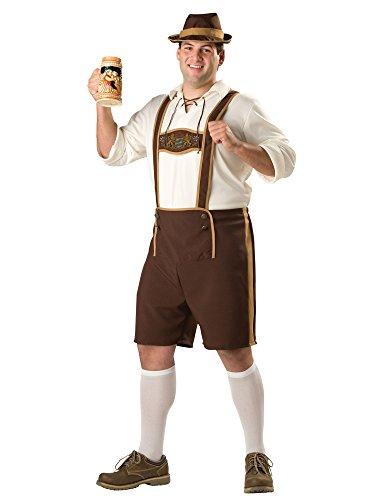 InCharacter Costumes, LLC Men's Bavarian Guy Costume, Brown/Tan,