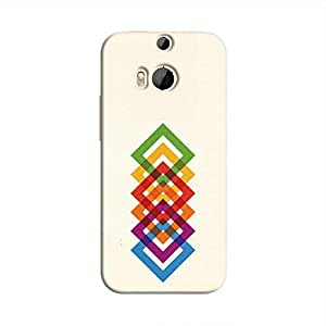 Cover It Up Square Colours Hard Case For HTC M8 - Multi Color