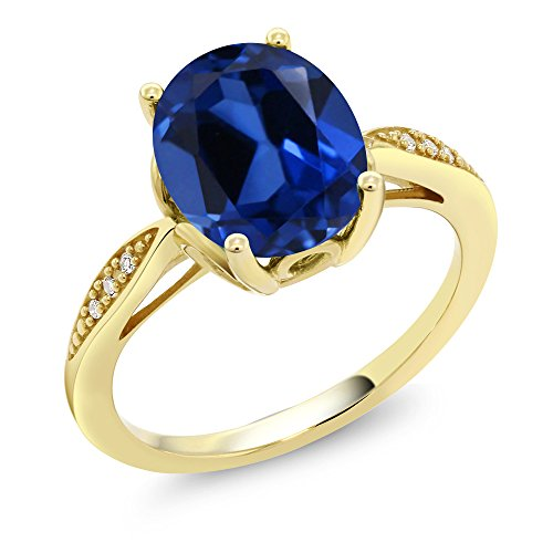 14K Yellow Gold 3.34 Ct Oval B