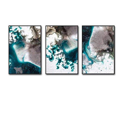 Xixuan Store Photo Wall 3 Multi Mural Set Solid Wood Listening to The sea Triptych Living Room Mural for Living Room/with Pictures Photo Fram for Desk (Color : 50cmx70cm|Classic Black Box)