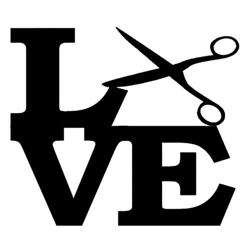 Love Hair Stylist PREMIUM Decal 5 inch PINK   Scissors   Hair   Salon  cosmetologist   Blow Dryer   Stylist   car truck van laptop macbook bumper sticker