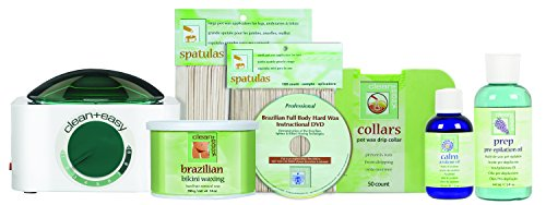 Clean + Easy Professional Pot Wax Brazilian Kit, 64 Ounce