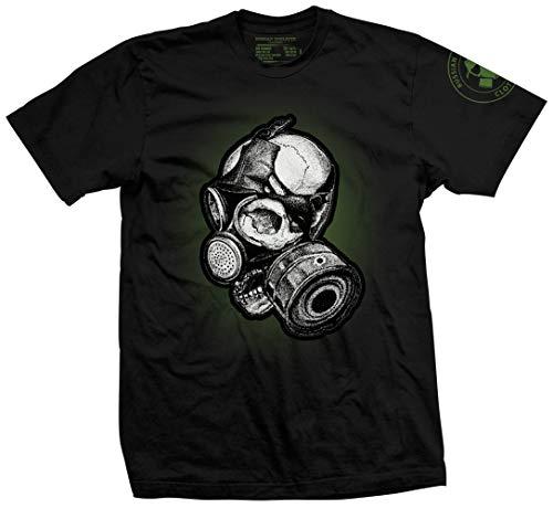 Russian Roulette Clothing Apocalypse Gas Mask 2 - Electric Boogaloo Men's T-Shirt Black XL (Mens Gas Mask)