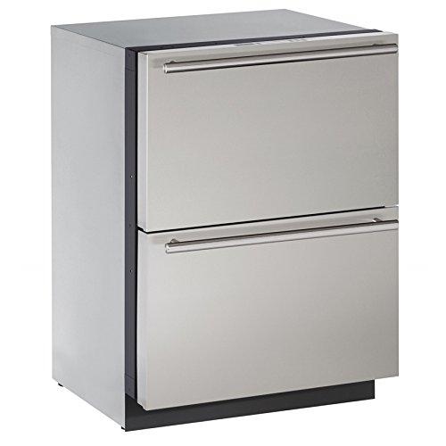 U-Line U3024DWRS00B 4.5 cu. ft. Built-in Two Drawer Refrigerator, Stainless (U-line Refrigerator Drawers)