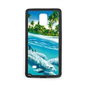 Samsung Galaxy Note 4 Cell Phone Case Black Dolphin Hard Phone Case Covers XPDSUNTR27501