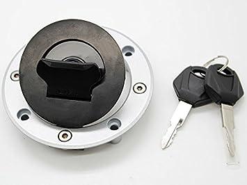 Tapa de dep/ósito de combustible para motocicleta con 4 pernos y cerradura para llave FXCNC-Racing