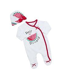 Babytown Preemie Tiny Baby Novelty Sleeper and Hat Set