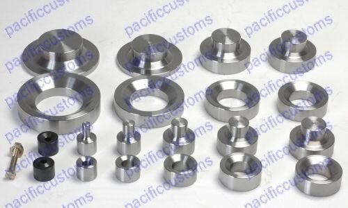 Dimple Die Set Includes Inches 0.50 - 0.75 - 1.00 - 1.25 - 1.50 - 1.75 - 2.00 -2.50 - 3.0 And Zeus 10 Piece Kit