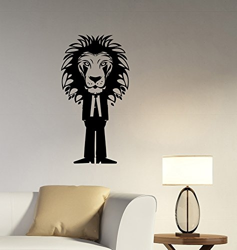 Homemade Predator Costumes (Lion Vinyl Decal Wall Sticker African Wildlife Art Decorations for Home Housewares Living Room Bedroom Office Animal Decor ln7)