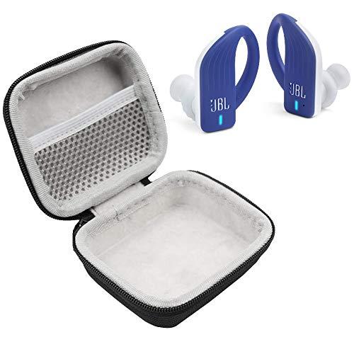 JBL Endurance Peak in-Ear Waterproof Sport Headphones Bundle with Plush Carry Case (Blue)
