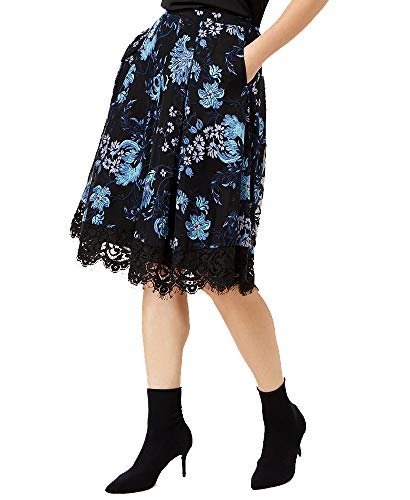 (Sachin & Babi Embroidered A-Line Skirt (Blue Lace, 4))