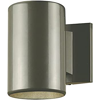 6797300 One-Light Outdoor Wall Fixture, Polished Graphite Finish on Steel Cylinder