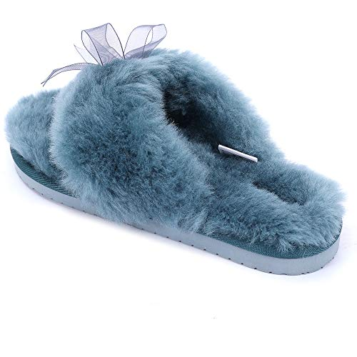 Lamb Women Slippers (9, Green) - Little Lamb Green