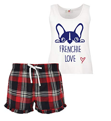 Second Frenchie Limited Short Rojo 60 Mujeres Ruffle Set Scottish Verde Azul Makeover Love Pijamas Rpwtd