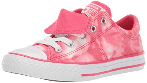 Converse Girls Kids' Chuck Taylor All Star Maddie Tie-Dye Slip On Sneaker, Strawberry Jam, 2 M US Little ()