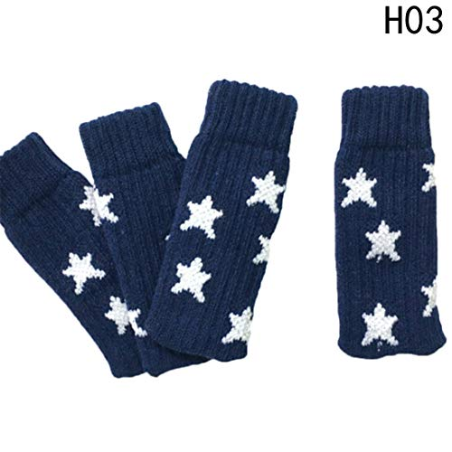 4 Pcs/Set Anti-Skid Thick Knitted Dining Table Chair Leg Socks Stool Mat Protective Case H03 Other