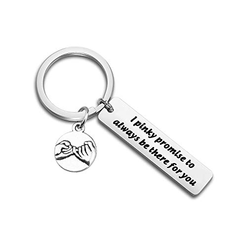 TGBJE I Pinky Promise to Always be There for You Keychain Wedding Gift for Lover (I Pinky)