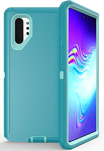 Hapitek for Galaxy Note 10 Plus Case, Heavy Duty Full Body Rugged Case with Screen Protector Shock Drop Dust Proof 3-Layer Protection Protective Case Cover for Samsung Galaxy Note 10 Plus (Blue) (Best Protective Case For Galaxy Note 3)