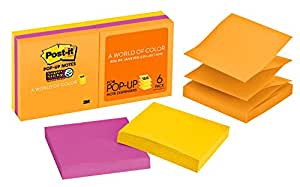 Post-it R330-6SSUC Super Sticky Pop-Up Notes Rio De Janeiro, 76x76mm 6 Pack