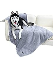 """PAWZ Road Large Dog Blanket Fluffy Skin-Friendly and Warm,Double-Sided,No Shedding Blanket for Large and Medium Dogs and Cats-59""""X39"""" Grey"""