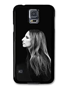 AMAF ? Accessories Barbra Streisand Black and White Profile Portrait case for Samsung Galaxy S5
