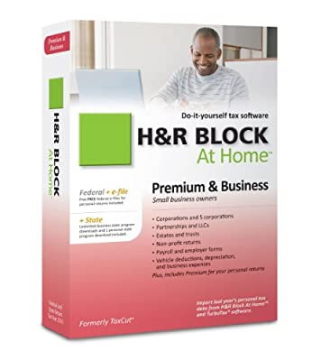 H&R Block At Home 2010 Premium & Business Federal + State + eFile