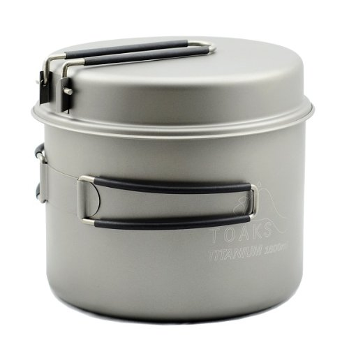 Titanium Cookset - TOAKS Titanium 1600ml Pot with Pan