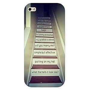Cubierta Posterior - Diseño Especial/Innovador - para iPhone 5/iPhone 5S ( Multicolor , Plástico )