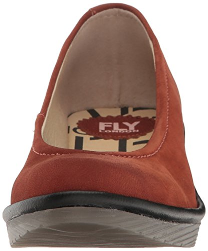 Fly London Kvinna Ii Kil Pump Tegel / Svart Cupido / Mousse