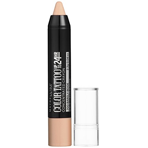 Maybelline Eyestudio ColorTattoo Concentrated Crayon,700 Barely Beige, 0.08 oz.