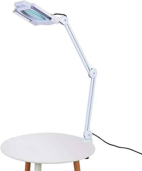 Lámpara de Mesa con Lupa, 5X Lupa 14W Lente LED Grande Plegable ...