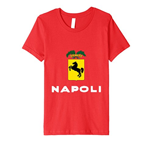 Kids Napoli Jersey - Naples Italy Italian Coat Of Arms T-Shirt 12 Red (Napoli Shirt Red)
