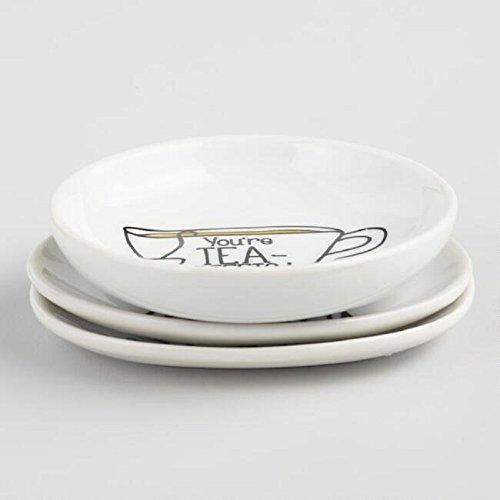 Sentimental Pun Sayings Tea Bag Rest Holder Set of 3