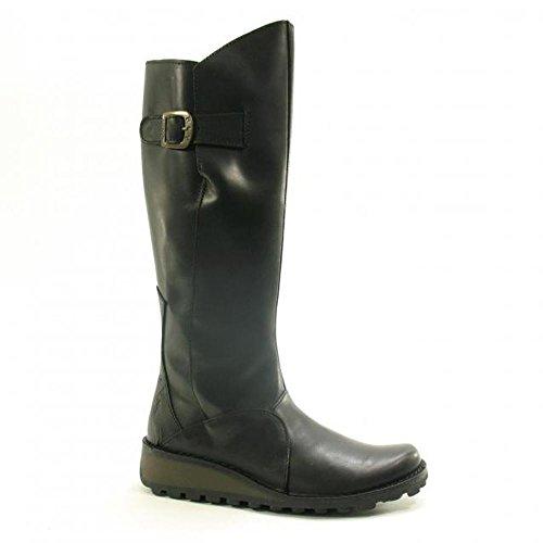 Fly London Womens Mol Knee High Boot Black 38 Eu 7 M Us