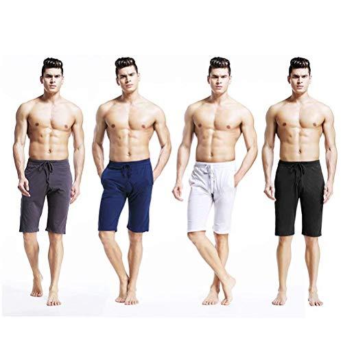 Pijama Homewear Sección Color Algodón Pijamas Loungewear Men Verano Nner Pantalones Blanco Sólido Casual 2018 Sport De Cómodo xZwf6qEn0