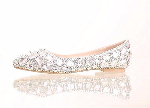 vestono dell'acqua Il di a punta scarpe calzature white scarpe perforazione singola scarpe colore nuziale 5zqtrZwzR