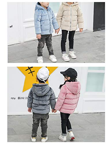 Outerwear Winter Coats Warm Child Down Slim Hooded fit Quilted Cotton Pink Thick Jacket BESBOMIG Puffer Velvet Gold Lightweight Fabric 6wCPqgw