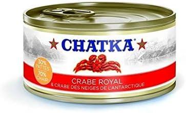 Chatka - Crabe Royale & Crabe Des Neiges De L'Antarticle 30% Pattes 70% Chair - 110G - Lot De 2 - Prix Du Lot - Livraison Rapide En France Métropolitaine