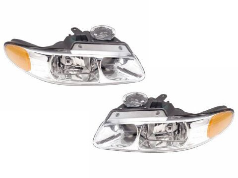 Chrysler Town & Country W/Quad Headlights Headlamps Driver/Passenger Pair New