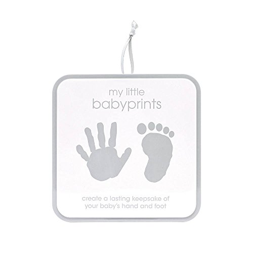 Pearhead My Little Babyprints, Handprint or Footprint Impression Kit and Keepsake Tin Perfect for Capturing Baby's Print, Gray (Babyprints Keepsake Kit)
