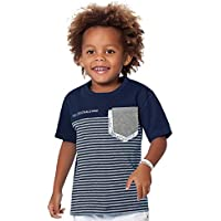 Camiseta Manga Curta Infantil Menino Marinho - Fakini
