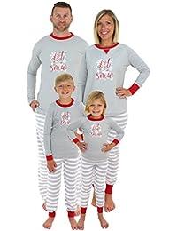 Holiday Family Matching Winter Snowflake Pajama PJ Sets