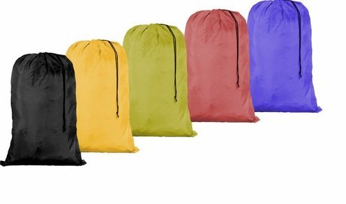 Large 30 X 40 Laundry Bag with Cord Assorted Colors and Patters (144) by WUHOU