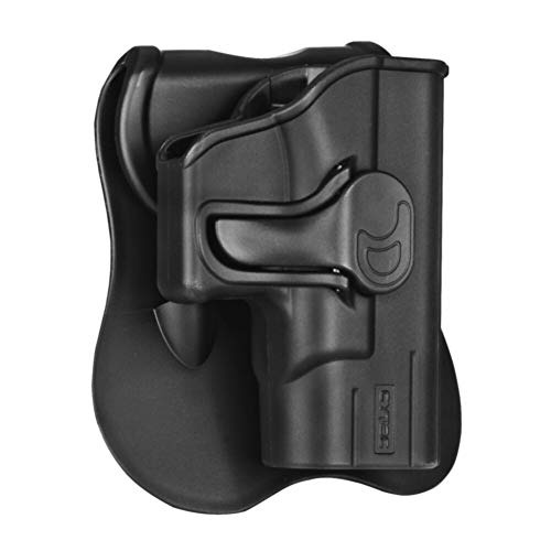 CYTAC Ruger LC9 OWB Holster, Tactical Outside The Waistband Paddle Belt Holsters Fit Ruger LC380 LC9 LC9s EC9 EC9s Pistol, Right Handed (Best Concealed Carry Holster For Ruger Lc9s)