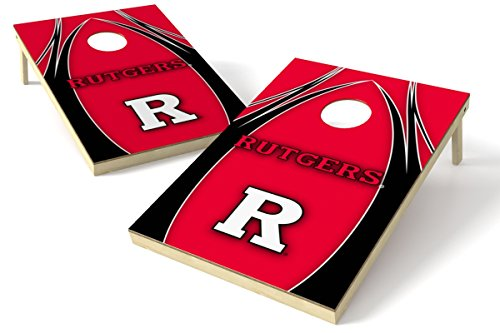 (Wild Sports NCAA College Rutgers Scarlet Knights 2' x 3' V Logo Cornhole Game Set)
