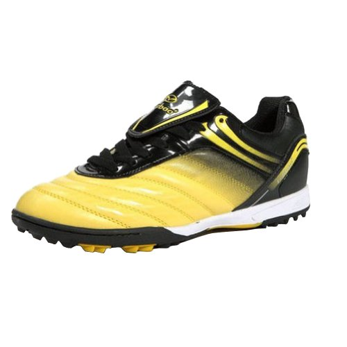 Tiebao Jungen harter Boden Indoor Geschwindigkeit Lackleder Fußballschuh Gelb