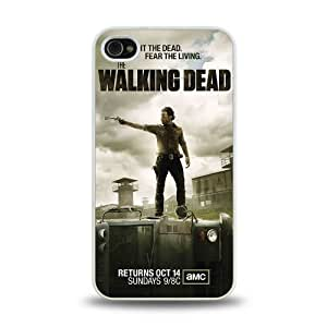 iPhone 4 4S case protective skin cover with hot TV The Walking Dead cool poster design #11