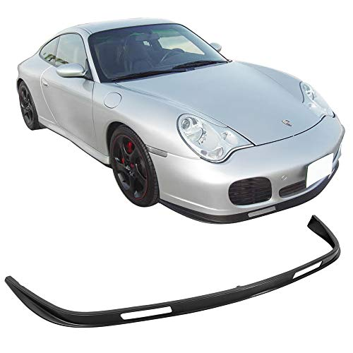 (Front Bumper Lip Fits 2001-2005 PORSCHE 996 TURBO 2002-2004 PORSCHE 996 CARRERA 4S | 996 Factory Style PU Black Front Lip Spoiler Splitter by IKON MOTORSPORTS)